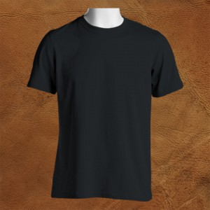 Crew-Neck-T-Shirt-Front-Featured-Image-Black