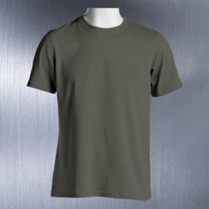 Crew-Neck-T-Shirt-Front-Featured-Image-Military-Green